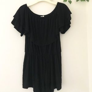 Dresses & Skirts - Ruffled black romper